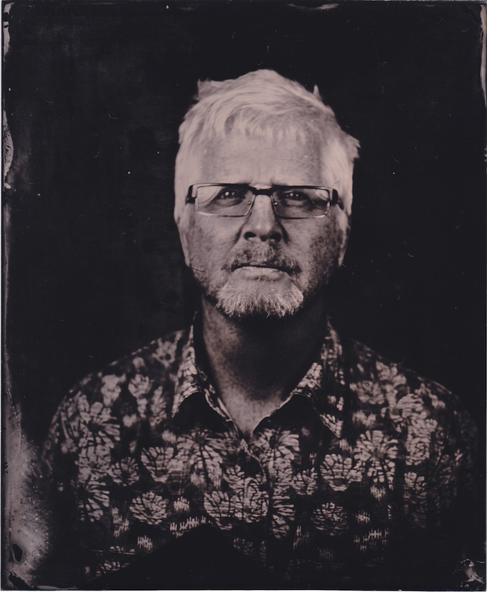 Portrait picture of Ciarán Walsh, www.curator.ie, which was taken during a 1 day Wet Plate Collodion workshop with Monika Fabijanczyk