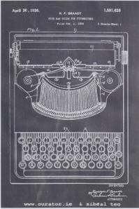 Typewriter adjusted