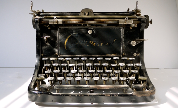 photograph of a Continental Typewriter taken by Ciarán Walsh / www.curator.ie to illustrate the start of scriptwring for a series on photograph commissioned by TG4 and Sibéal Teo, Dingle.