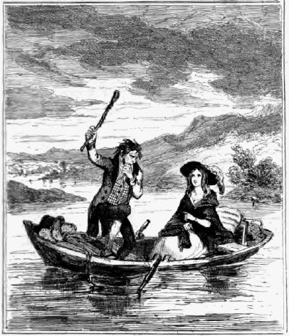 This llustration shows the Murder of the Colleen Bawn from an illustration posted on http://www.exclassics.com/newgate/ng584.htm. It was reblogged by Ciarán Walsh, www.curator.ie