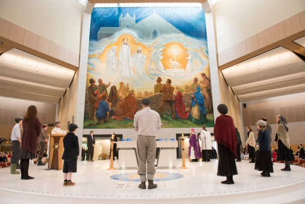 Apparition Mosaic unveiled at Knock